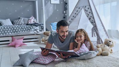espacio de lectura en el hogar