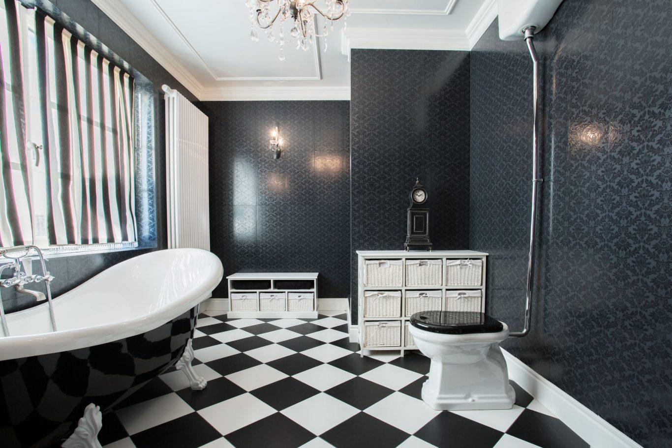 baño ajedrez