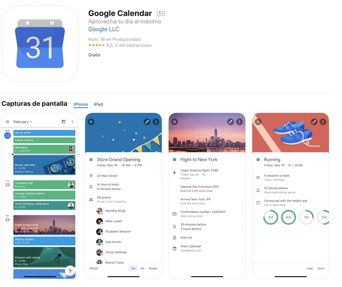 Google Calendar Herramientas