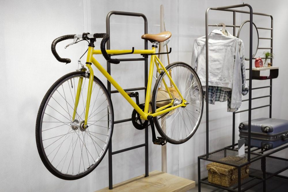 estantería metálica para bici