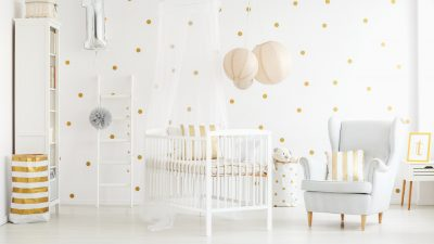 papel tapiz habitación de bebé