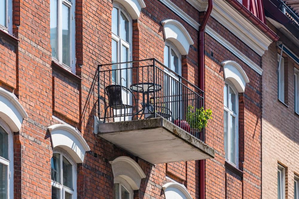 Balcón en edificio