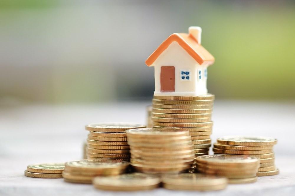 casa y monedas Crédito por el 90%