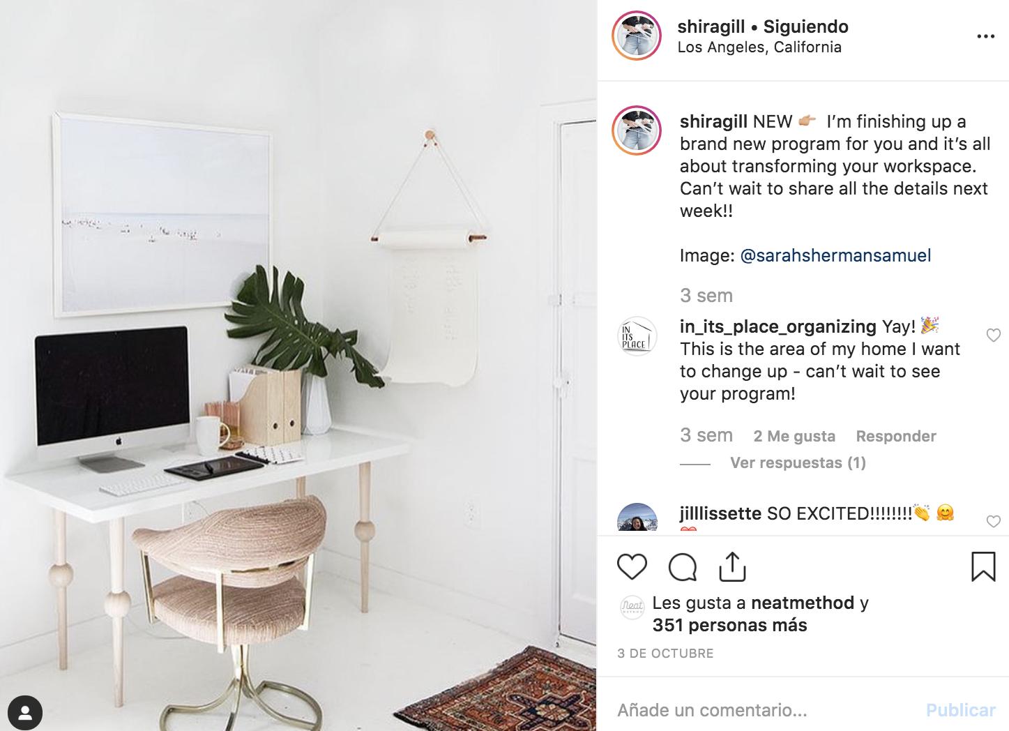 Shira gill: cuentas de instagram para organizar