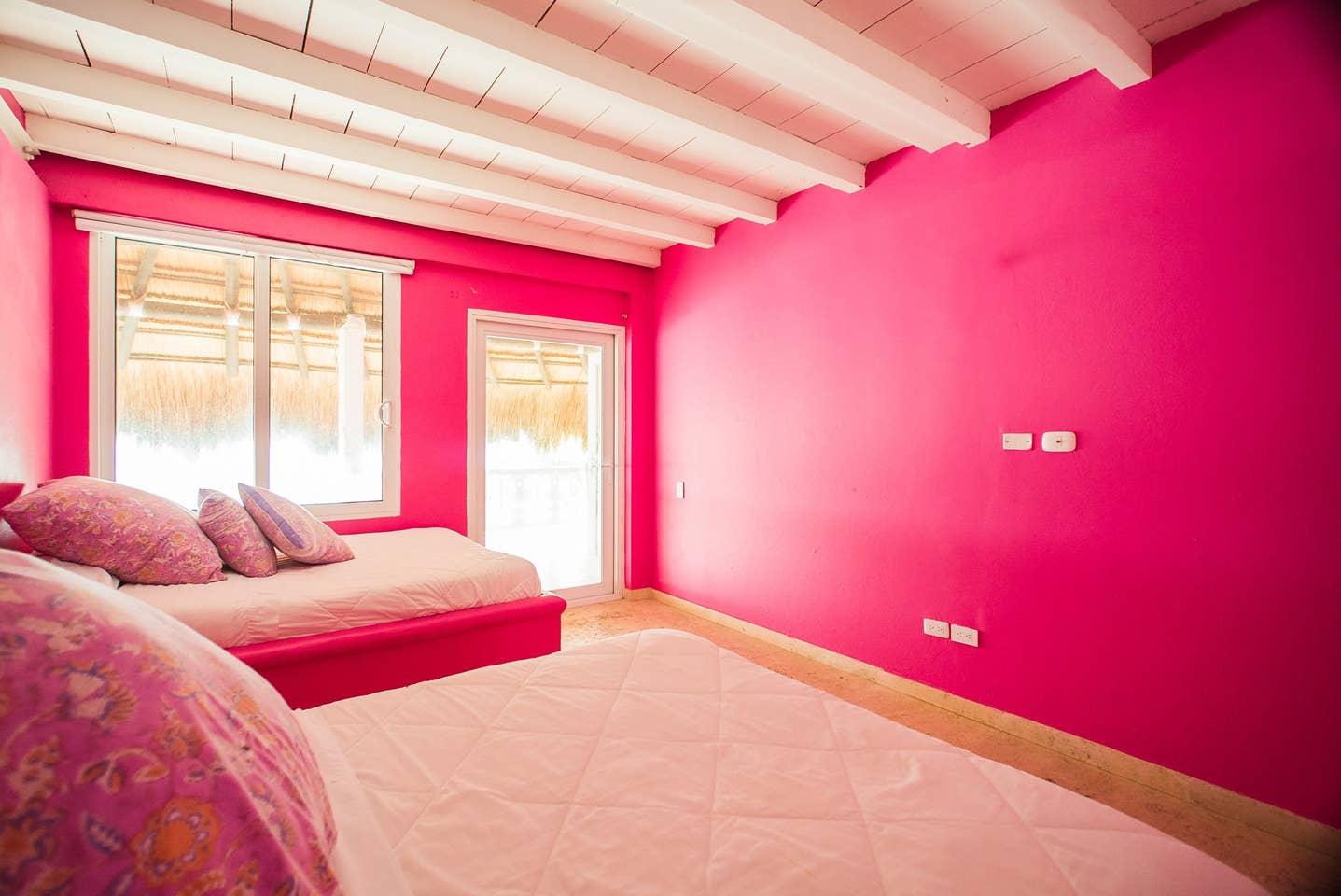 cuarto de isla rosa