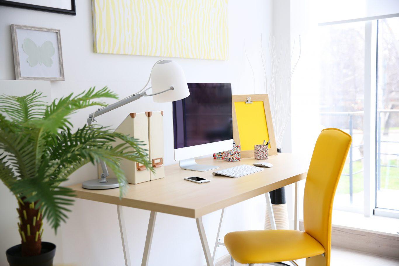 espacio de trabajo iluminado
