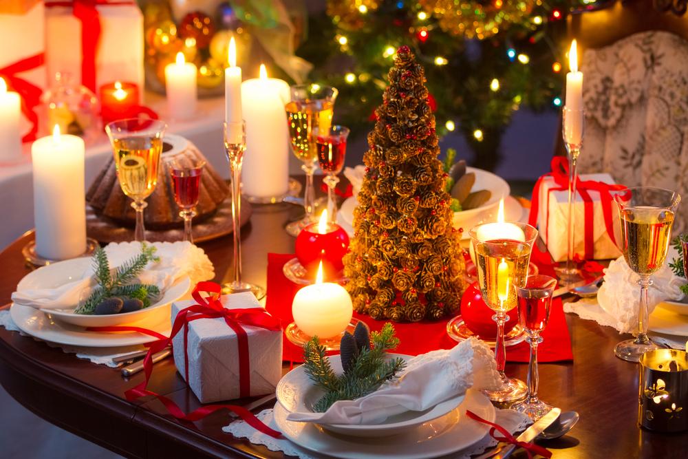 mesa navideña