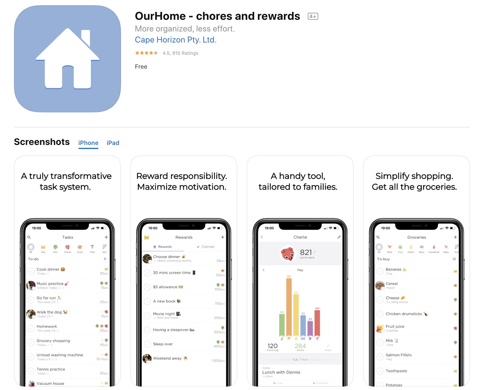 OurHome aplicaciones para organizar