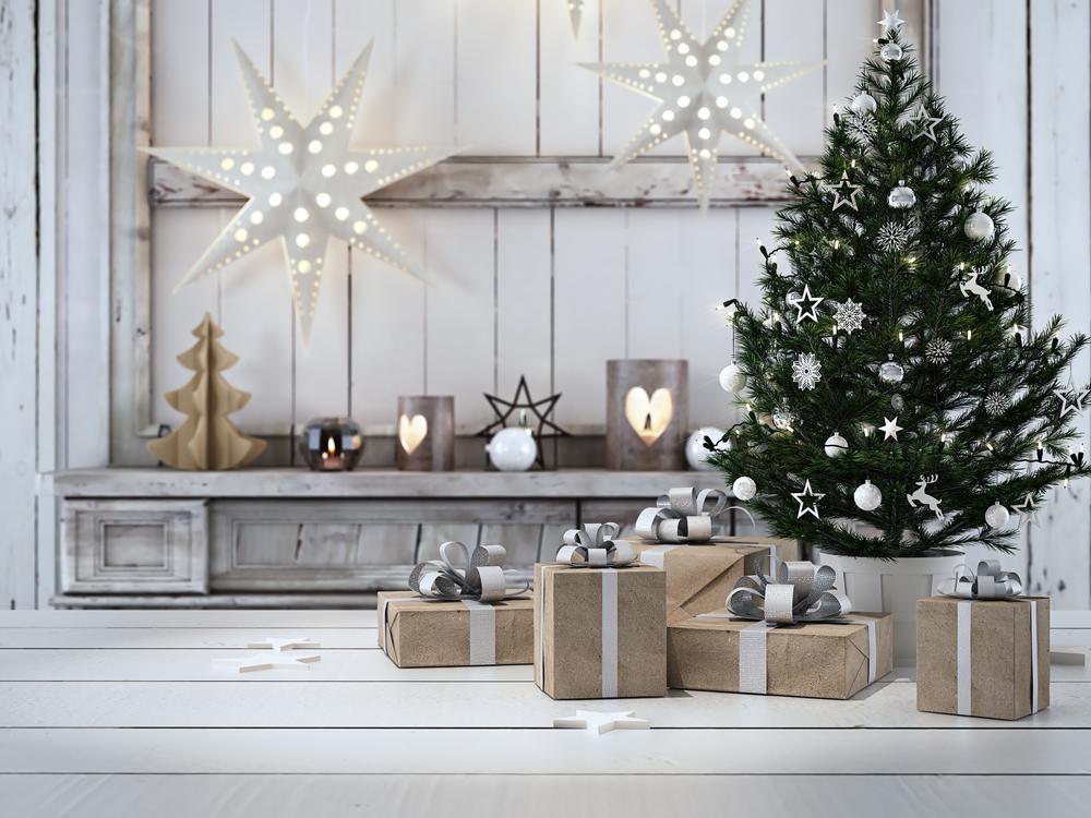 blanca navidad en casa
