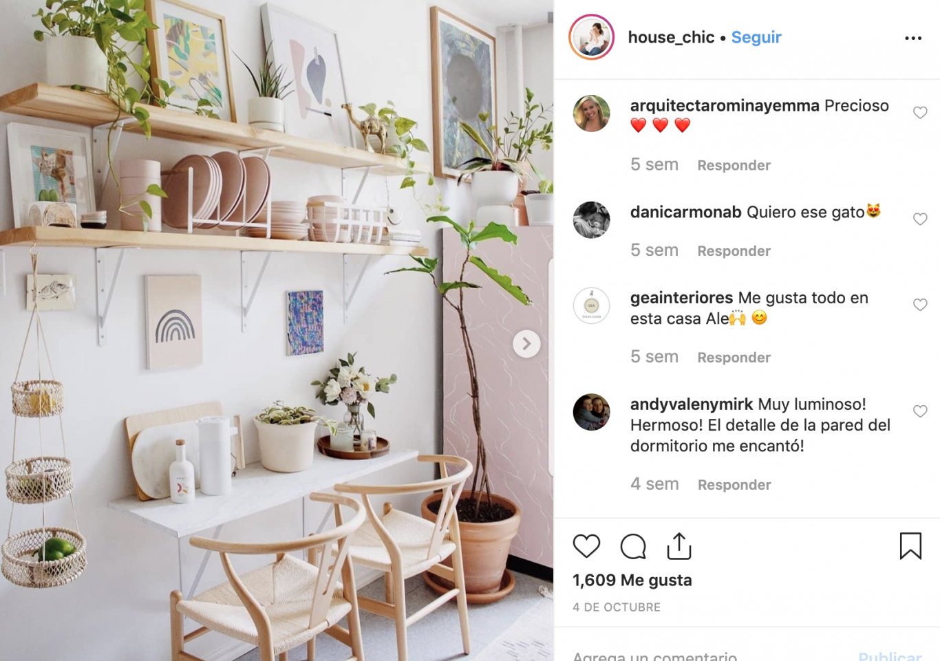 cuenta de instagram de decoracion