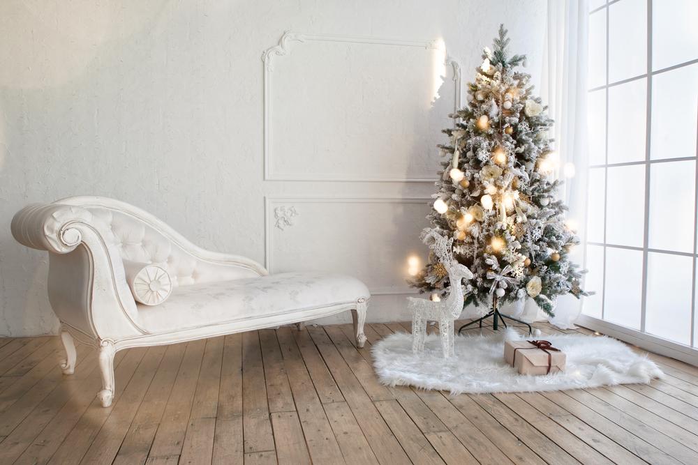el arbol ideal de navidad es blanco