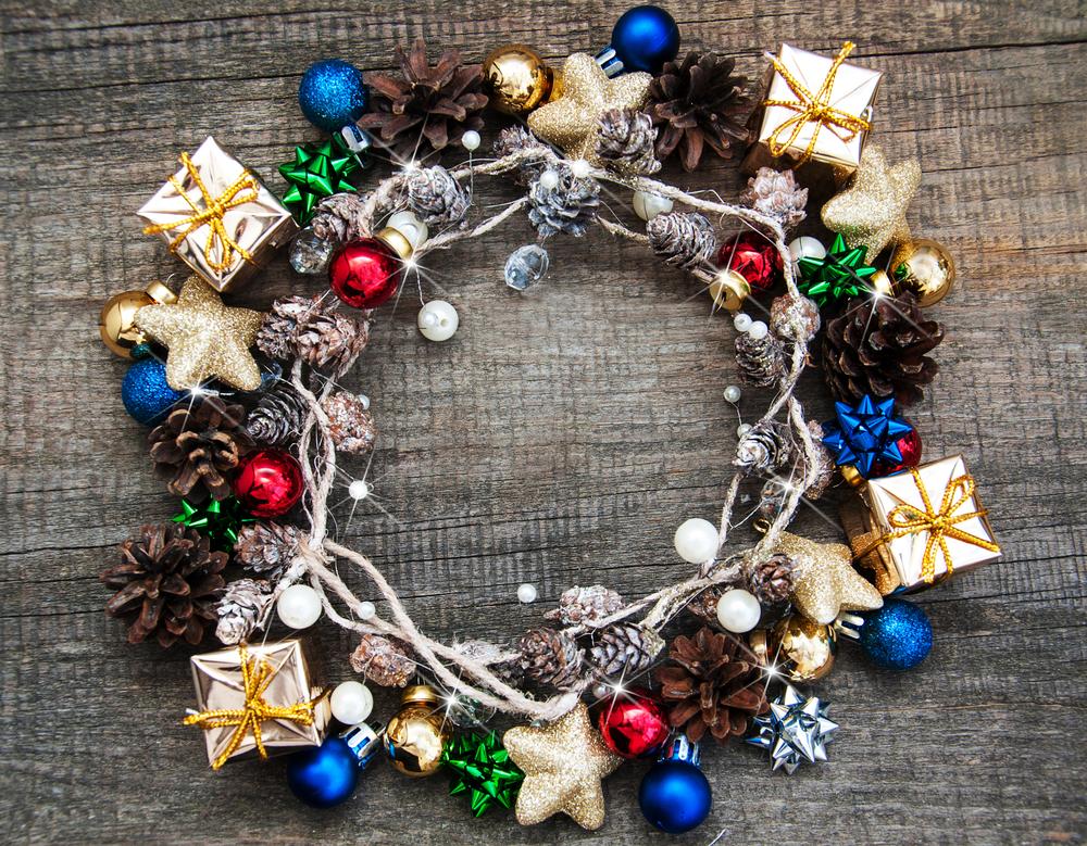 ideas de coronas para navidad