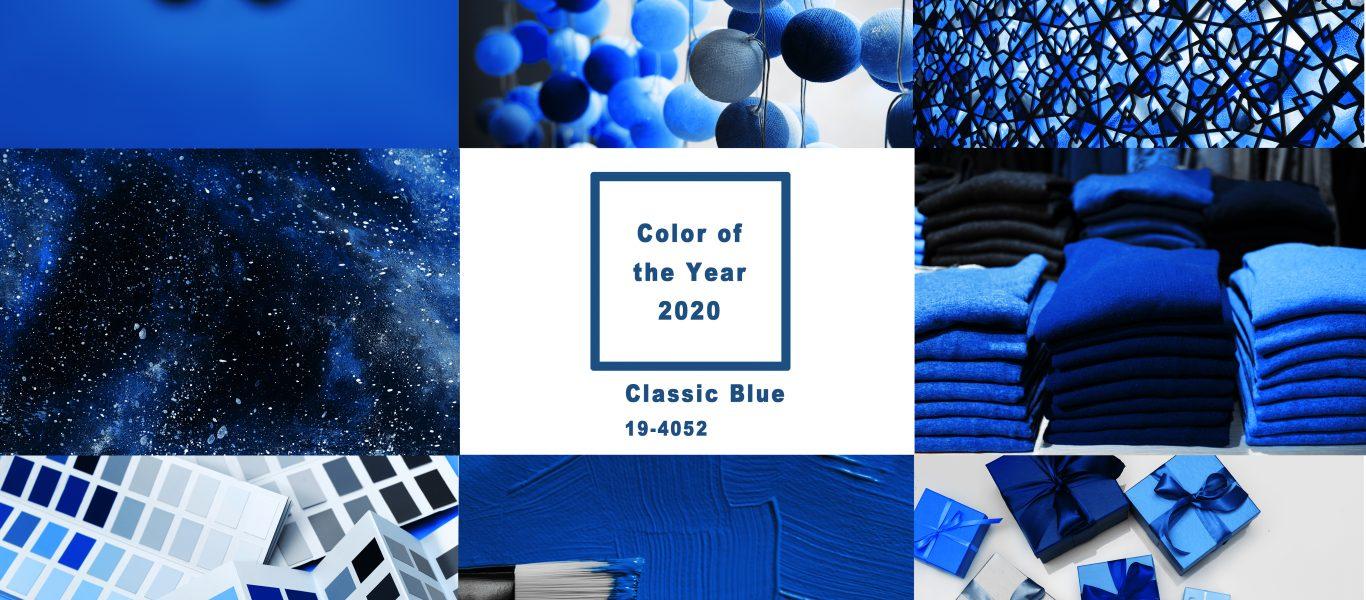 Azul clásico color Pantone 2020