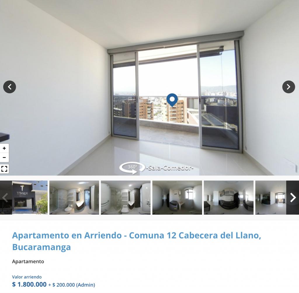 Apartamento en arriendo en Cabecera, Bucaramanga