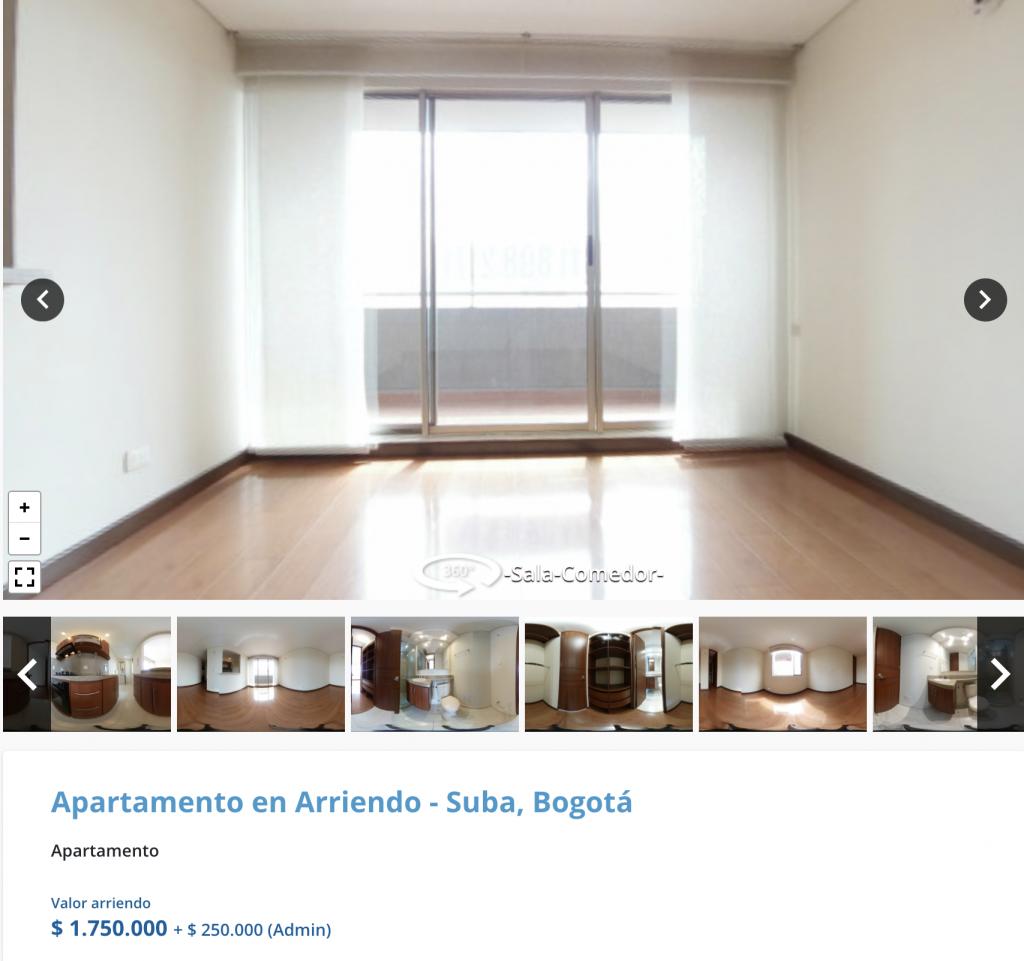 Apartamento en arriendo en Caminos de San Lorenzo, Bogota