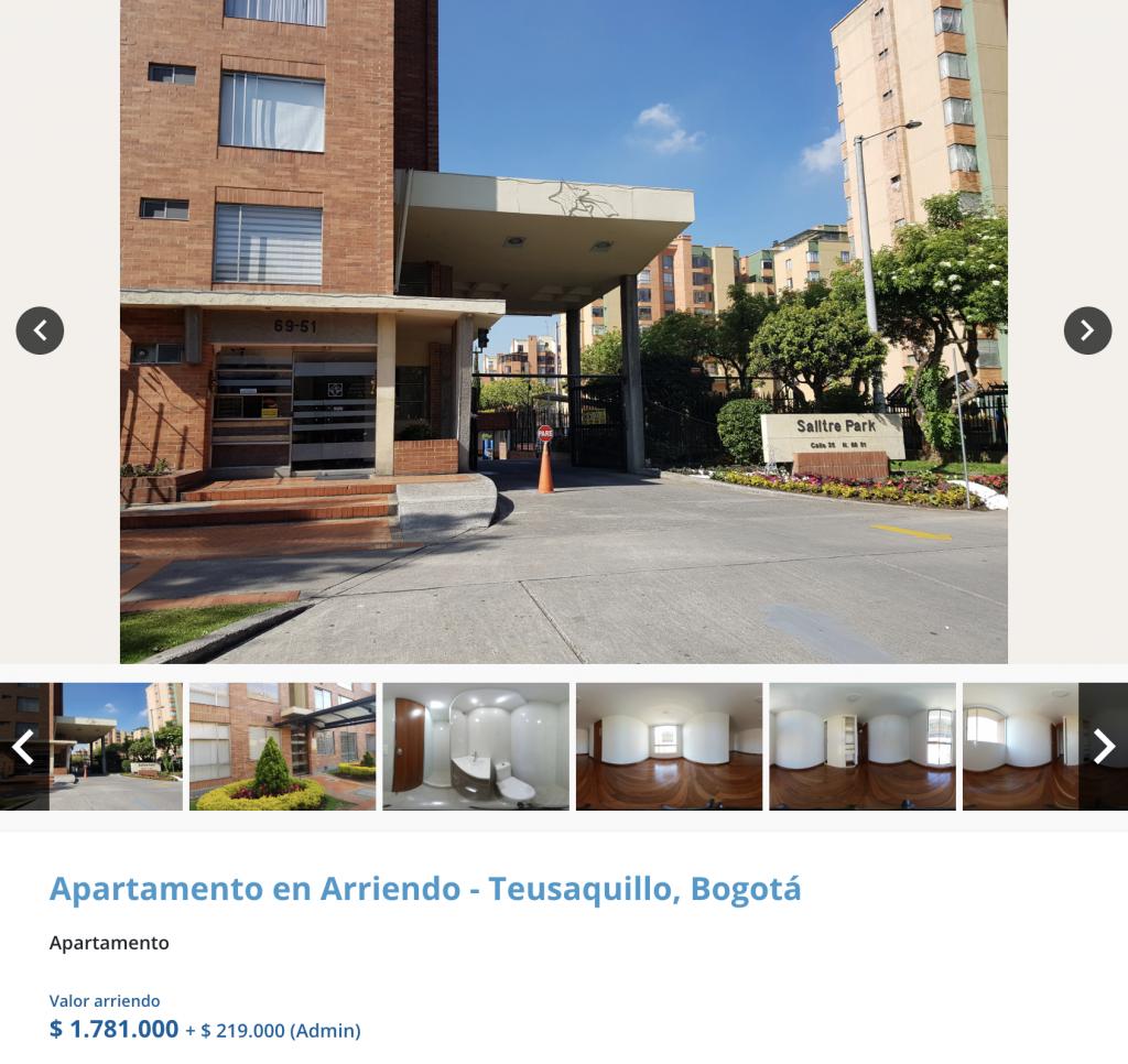Apartamento en arriendo en Ciudad Salitre, Bogota para arrendar con 2 millones de pesos