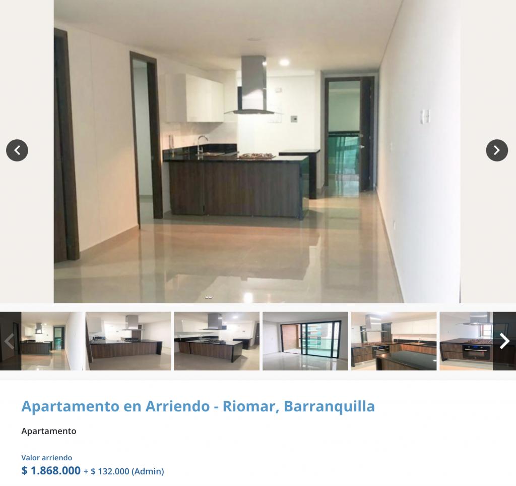 Apartamento en arriendo en El Poblado, Barranquilla