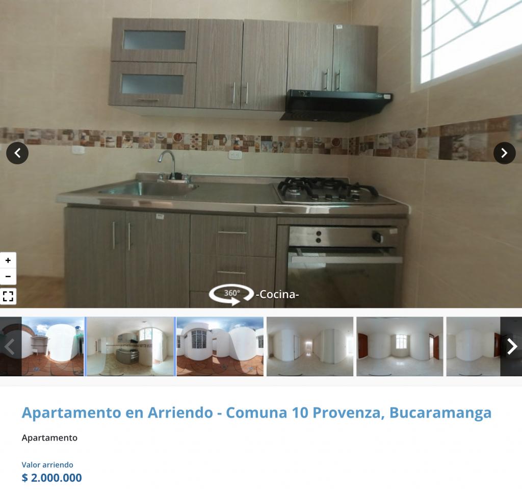 Apartamento en arriendo en Provenza, Bucaramanga
