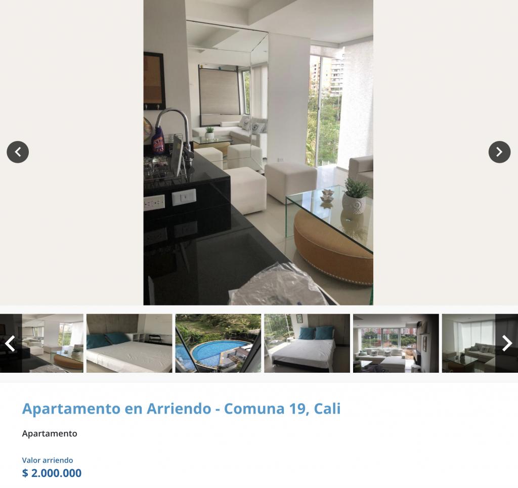 Apartamento en arriendo en Tejares, Cali para arrendar con 2 millones de pesos