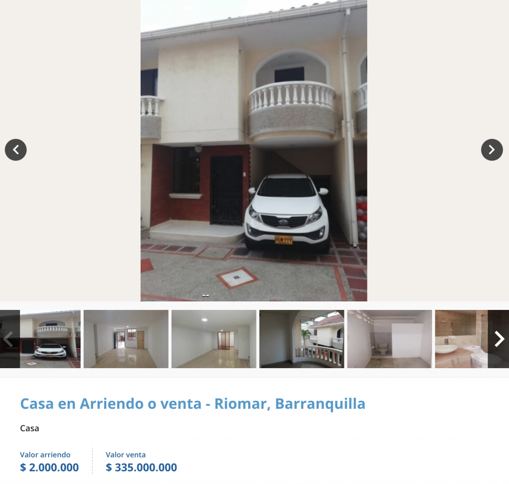 Casa en arriendo en Altos de riomar, Barranquilla