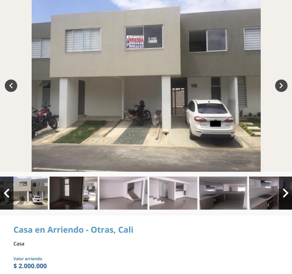 Casa en arriendo en Ciudad Country, Cali