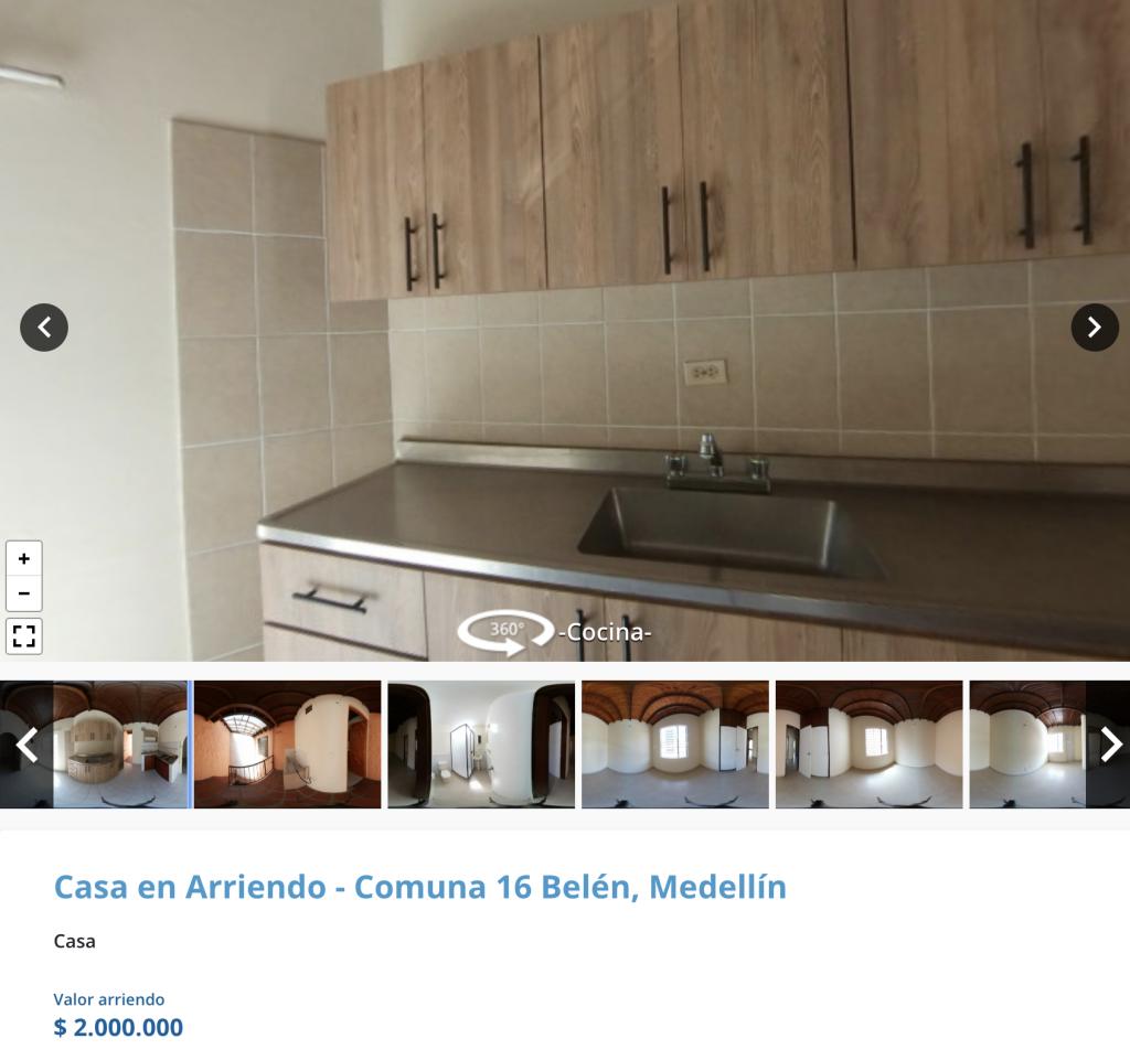 Casa en arriendo en Rosales, Medellin para arrendar con 2 millones de pesos