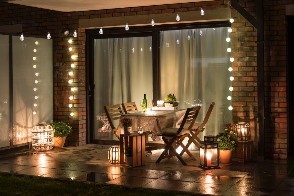 decoración con luces para can valentin