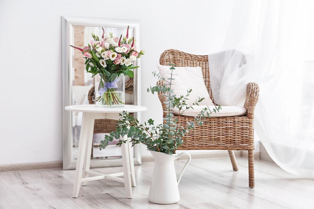hogar decorado con flores