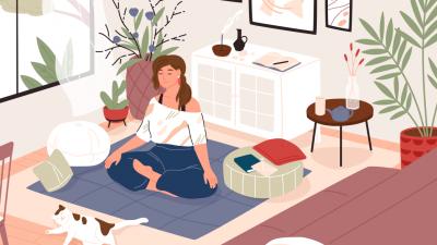 espacio de relajación en casa
