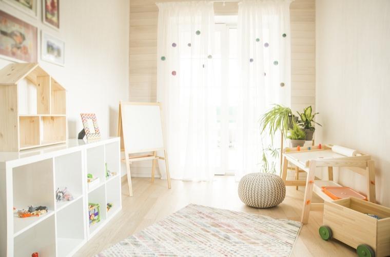 habitación vacía en casa para niños